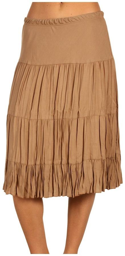Karen Kane Short Tiered Skirt (Driftwood) - Apparel