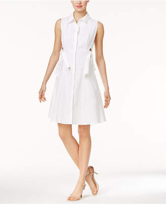 Marled Grommet-Trim Shirtdress $70 thestylecure.com