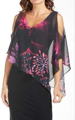 Frank Lyman Floral Chiffon Dress
