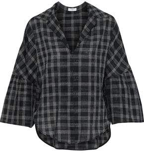 Tome Checked Cotton Blouse