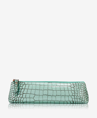 GiGi New York Essentials Case, Mint Crocodile Embossed Leather
