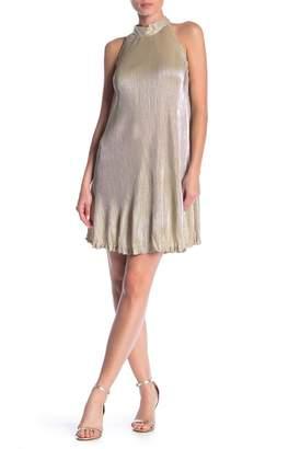 Angie Pleated Metallic Dress