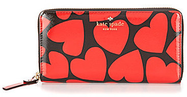 Kate Spadekate spade new york Be Mine Collection Lacey Heart-Print Zip-Around Wallet