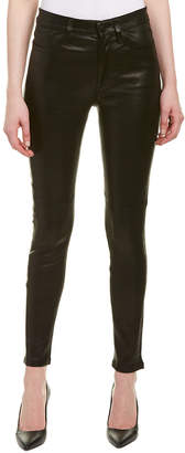 Joe's Jeans The Charlie Faded Black High-Rise Leather Skinny Ankle Cut