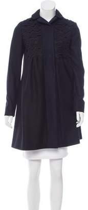 Miu Miu Virgin Wool Knee-Length Coat w/ Tags