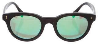 Illesteva Mirrored Round Sunglasses
