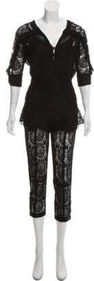 Mayle Short Sleeve Lace Jumpsuit
