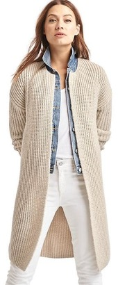 Ribbed collarless cardigan $79.95 thestylecure.com
