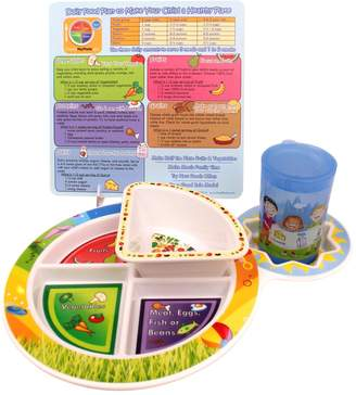 Fresh Baby Set of Plate, Bowl, Training Cup and Tip Card 4 Piece