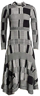 Proenza Schouler Women's Patchwork Plaid Midi Dress