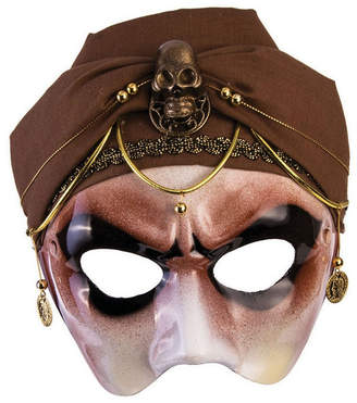BuySeasons Men Fortune Teller Half Mask with Scarf