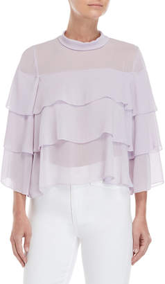 Bishop + Young Tiered Ruffle Crop Top