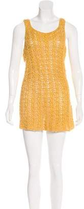 Rachel Zoe Open Knit Knee-Length Dress