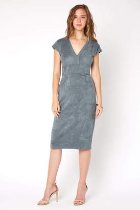 Level 99 Ivan Suede Midi Dress
