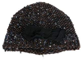 Lanvin Knit Bow-Accented Beanie