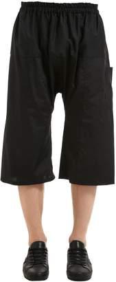 Raf Simons Cotton Blend Wide Leg Shorts