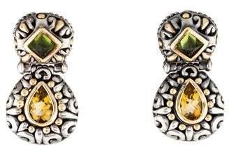 John Hardy Peridot & Citrine Drop Earrings