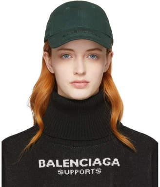 Balenciaga Khaki Logo Cap