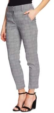 CeCe Plaid Straight-Leg Ankle Pants