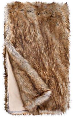 Fabulous Furs Faux-Fur Throw - Tipped Fox - Fabulous-Furs