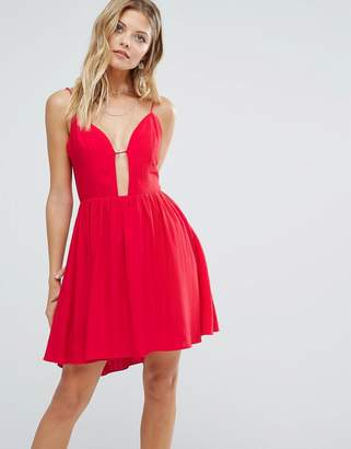 Majorelle Gallup Dress In Red