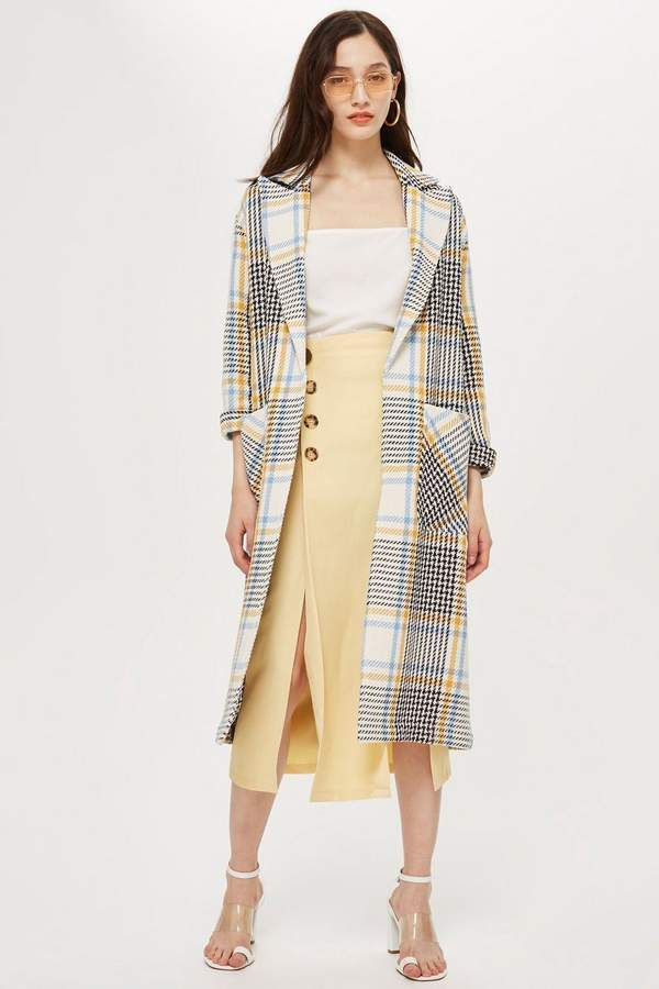 Topshop PETITE Check Duster Coat