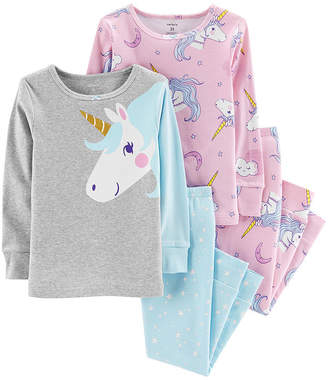 Carter's 4pc Unicorn Pajama Set - Toddler Girl
