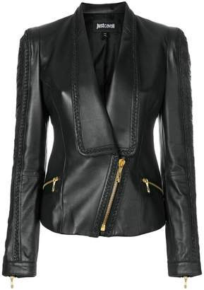 Just Cavalli stitch embellished fitted jacket