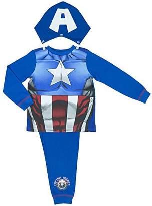 Marvel Avengers Assemble Captain America Boys Pyjamas