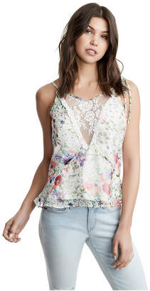True Religion WOMENS TIE SHOULDER PRINTED TANK