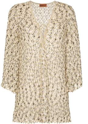 Missoni Mare scale-effect knitted beach dress
