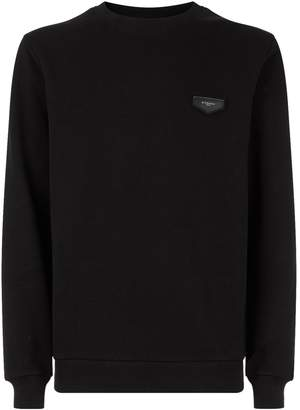 Givenchy Slim Leather Detailed Sweater