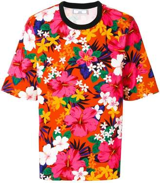 Ami Alexandre Mattiussi Oversized T-shirt Flowers Print
