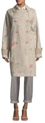 Lafayette 148 New York Loretta Painterly Linen Jacket