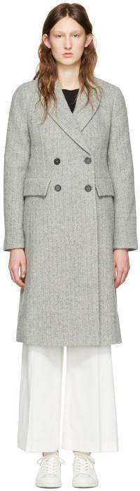 Isabel Marant Grey Danki K Coat