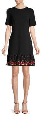 Calvin Klein Short-Sleeve Flounce Dress