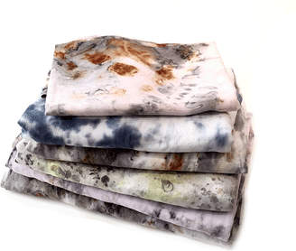 Samantha Verrone Textiles Hand Dyed Antique Linen Tablecloth