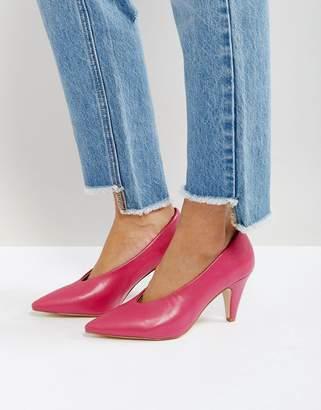 Raid Amber Hot Pink Kitten Heeled Shoes