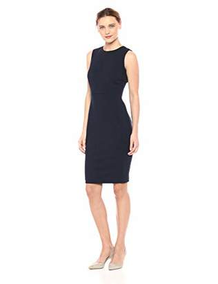 Calvin Klein Women's Scuba Crepe Sleeveless Princess Seam Sheath Dress,8