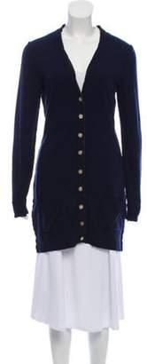 Dolce & Gabbana Cashmere Button-Up Cardigan Navy Cashmere Button-Up Cardigan