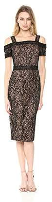 Rachel Roy Women's Cold Shoulder Floral Lace Midi Dress