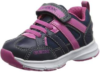 Geox Girl's J Top Fly G. A Sneakers, Navy/Fuchsia