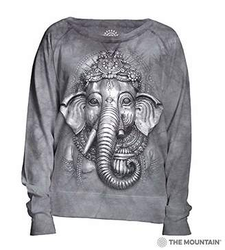 The Mountain Grey Ganesh Adult Woman's Slouchy Crew Shirt