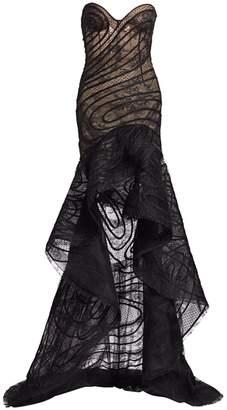 Oscar de la Renta High-Low Strapless Sweetheart Gown