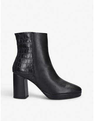 Carvela Tiptoe contrast texture leather ankle boots