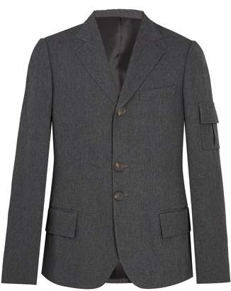 Wales Bonner Single-breasted patch-pocket woven blazer