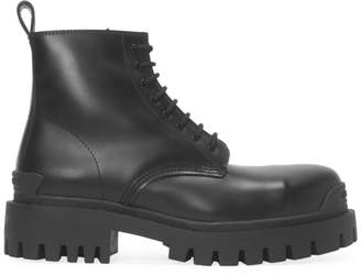 Strike Leather Combat Boots