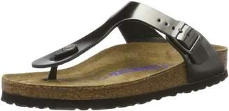 Birkenstock Women's Gizeh Soft Cork Footbed Thong Sandal Anthracite 40 M EU