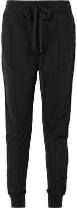 Haider Ackermann Grosgrain-trimmed Cotton-jersey Track Pants - Black