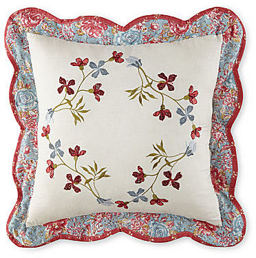 JCPenney Home Expressions Maggie Floral Square Decorative Pillow
